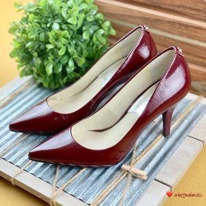 Michael Kors Patent Leather Heel Pumps, Burgundy 6